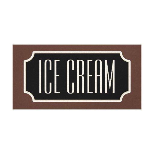 Rustic Ice Cream Sign Canvas Canvas Prints