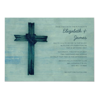 Rustic Iron Cross Wedding Invitations