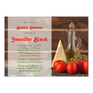 Rustic Italian Oil Tomatoes Cheese Bridal Shower Card