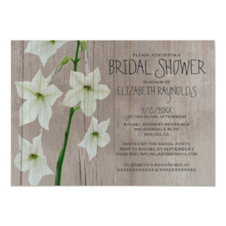 Rustic Jasmine Bridal Shower Invitations