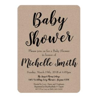 Rustic Kraft Baby Shower Invitation