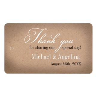 Rustic Kraft Design 100/pk DIY Wedding Favor Tags Business Card