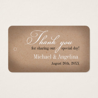 Rustic Kraft Design 100/pk DIY Wedding Favor Tags Business Card