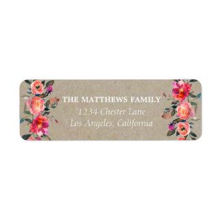 Rustic Kraft Floral Address Labels