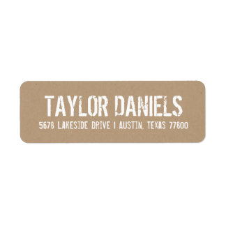 Rustic Kraft Return Address Labels
