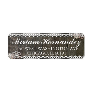 Rustic Lace Address Mailing Labels