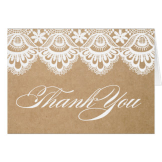 RUSTIC LACE | THANK YOU NOTE CARD
