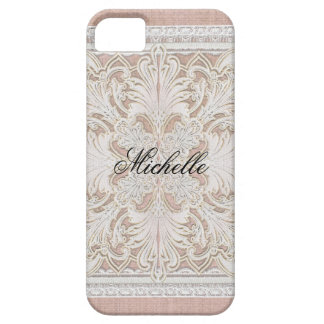 Rustic Lace w Aged Vintage Linen Country Elegance iPhone 5 Cases