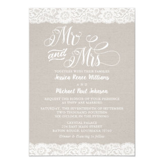 Rustic Lace Wedding Card