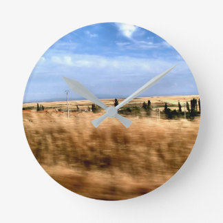 Rustic landscape from automobile wall clocks