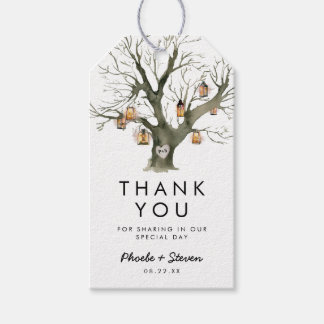 Rustic Lanterns Oak Tree Wedding Favor Thank You Gift Tags