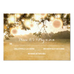 Rustic Lanterns Romantic Wedding RSVP cards Personalized Announcement