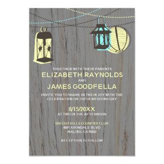 Rustic Lanterns Wedding Invitations