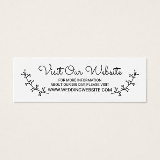 Rustic Laurels Wedding Website Mini Business Card