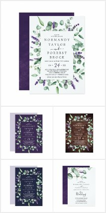 Rustic Lavender and Eucalyptus Wedding Collection