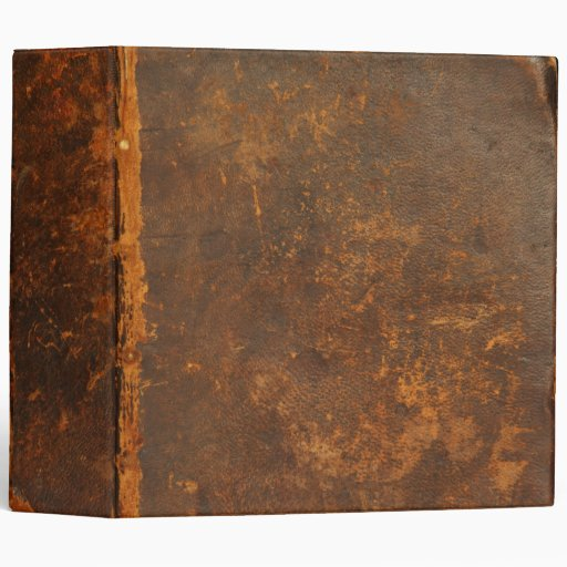 rustic leather 3 ring binders