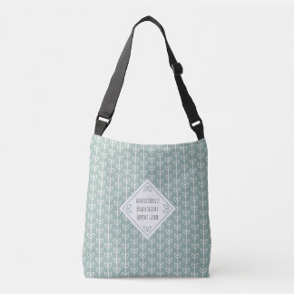 Rustic Leaves on Blue-Green Support Group Crossbody Bag
