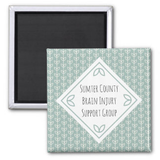 Rustic Leaves on Blue-Green Support Group Magnet