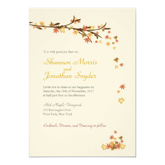 Rustic Leaves Wedding Invitation