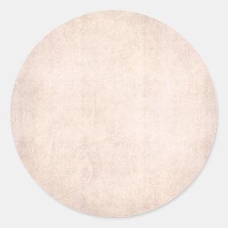 Rustic Light Apricot Classic Round Sticker