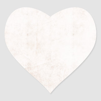 Rustic Light Apricot Heart Sticker