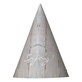Rustic Light Gray Wood Wooden Fence Country Style Party Hat