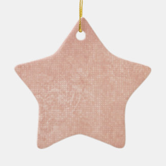 Rustic Light Redwood Ceramic Star Ornament