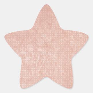 Rustic Light Redwood Star Sticker