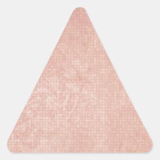 Rustic Light Redwood Triangle Sticker