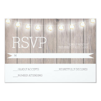 Rustic Lights - RSVP Card