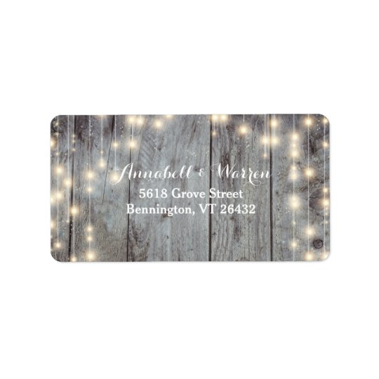 Rustic Lights Wood Return Label