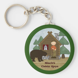 Rustic Lodge Country Cabin Keys with Bear Keychain