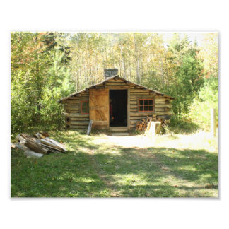 Rustic Log Cabin Photo Print