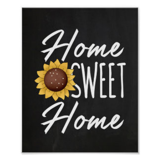 Rustic Look Home Sweet Home Poster