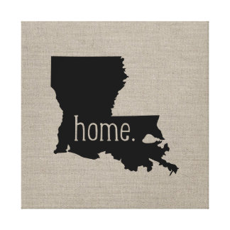 Rustic Louisiana Home State Wrapped Canvas Art Gallery Wrapped Canvas