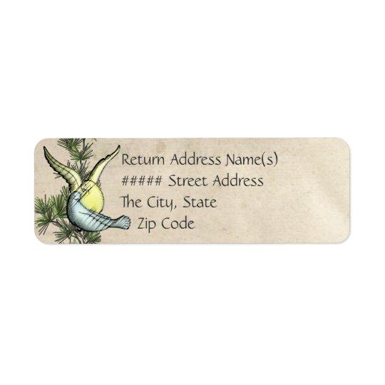 Rustic Love Birds  (Return Address) Return Address Label