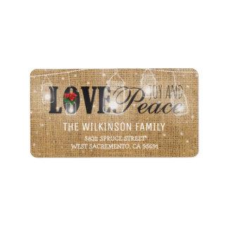 Rustic Love, Joy & Peace Christmas Holidays