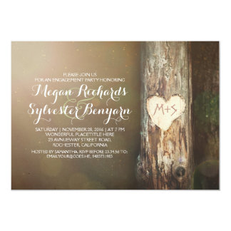 rustic love tree country engagement party invites
