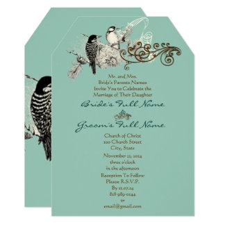Rustic Lovebirds Wedding Invitation