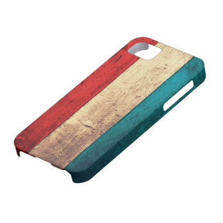 Rustic Luxembourg Flag iPhone 5 Covers