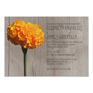 Rustic Marigold Wedding Invitations