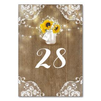 Rustic Mason Jar Baby's Breath and Sunflowers Card