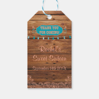 Rustic Mason Jar Gift Tags Peach and Teal