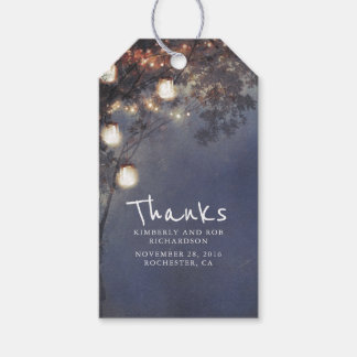 Rustic Mason Jar Lights Tree Wedding Gift Tags