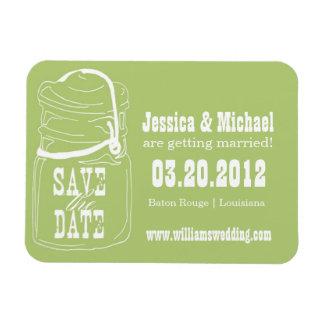 Rustic Mason Jar Save the Date Magnet