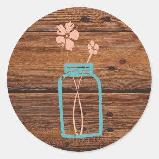 Rustic Mason Jar Sticker