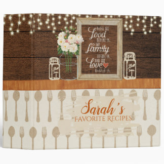 Rustic Mason Kitchen Vinyl Binder