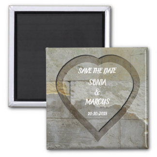 Rustic Masonry Wedding save the date Magnet
