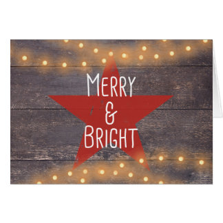 "Rustic ""Merry and Bright"" Christmas Card"