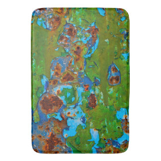 Rustic Metal Peeling Paint Grunge Vintage - large Bath Mat